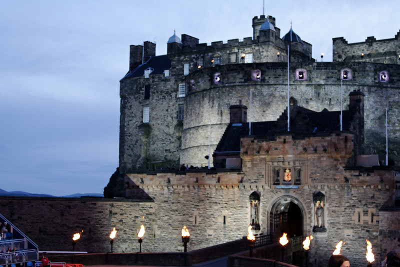 Edinburgh Castle - this was taken at dusk, just prior to the start of the Royal Edinburgh Military Tattoo.