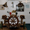 Edinburgh - Royal Yacht Britannia.  This is the Wheelhouse and steering mechanism of the ship.  This would normally be installed one deck below the Bridge, however it was removed and is now located in the passageway leading to the ship.