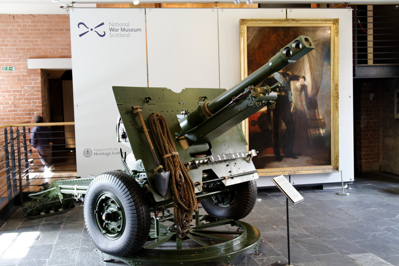 Edinburgh Castle - National War Museum of Scotland.  I believe this is a British 6-Pounder.