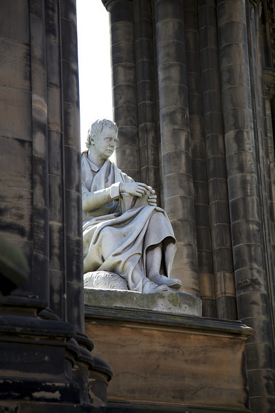 The Sir Walter Scott statue designed by John Steell, located inside the Scott Monument.