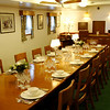 Edinburgh - Royal Yacht Britannia.  This is the formal dining area in the Officer's quarters.  While not as elaborate as the main dining room, it was considerably better than the facilities enjoyed by the enlisted crew members.
