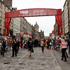 Edinburgh - this is one view of the Edinburgh Fringe Festival on the Royal Mile.