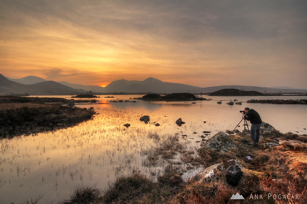 Shooting the sunset at Rannoch Moor with Alastair Jolly