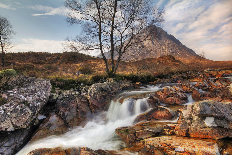 Buachaille Etive Mor and the Etive river