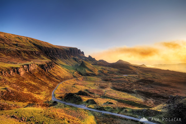 Views from Quiraing at sunrise