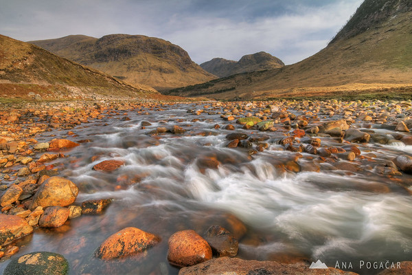 By the river in Glen Etive