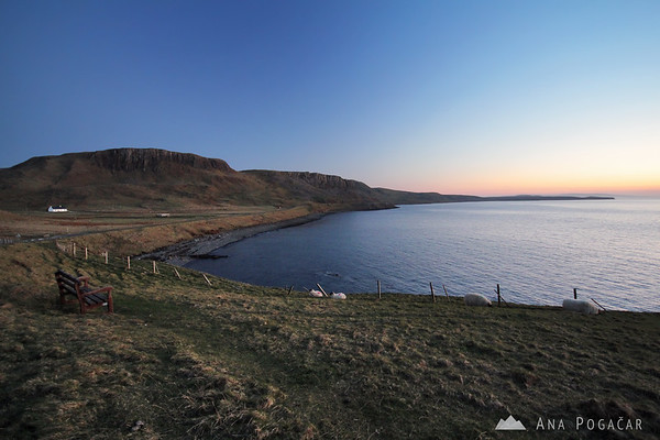 Dusk at the tip of the Trotternish peninsula