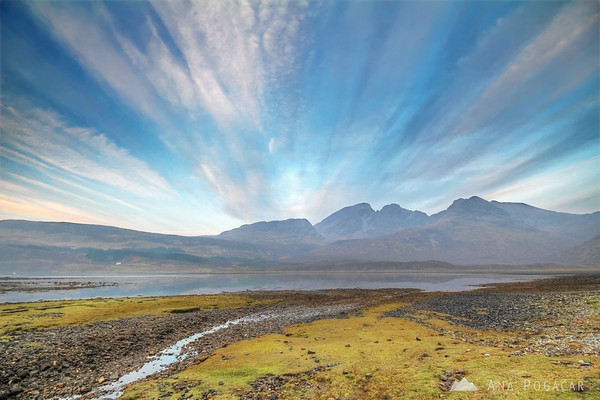 Cuillin mountains around sunrise