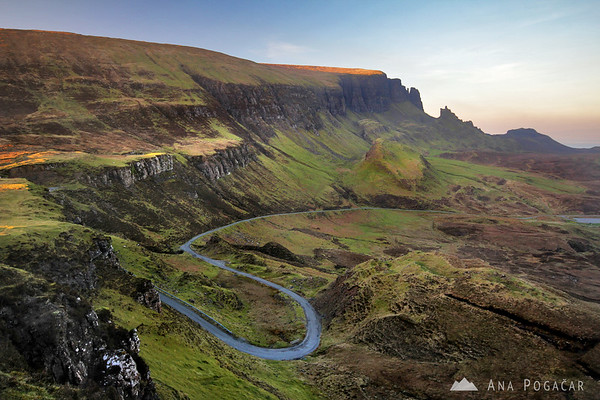 Views from Quiraing at sunset