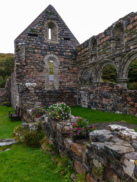 The ruins of the Nunnery at Iona Abbey