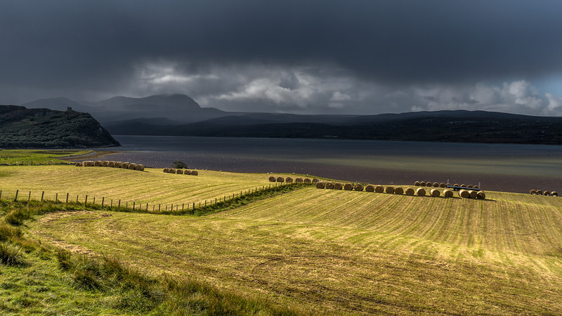 Back on the mainland, driving to the northern coast of Scotland.