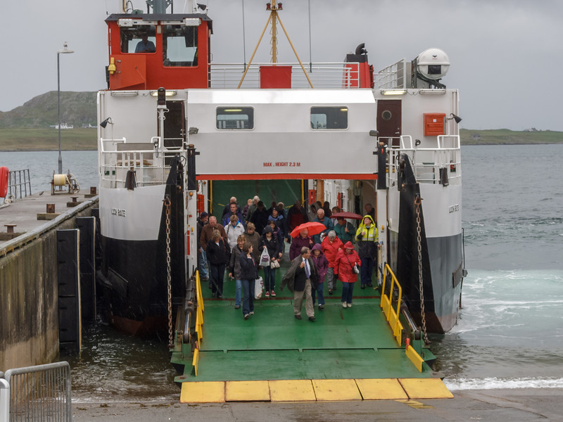 Ferry to Isle of Iona - watch your step, wet feet