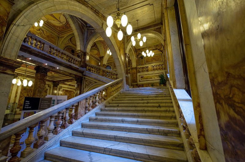 City Center, Glasgow - The first floor is open to the public.  The various rooms and ceilings are stunning.