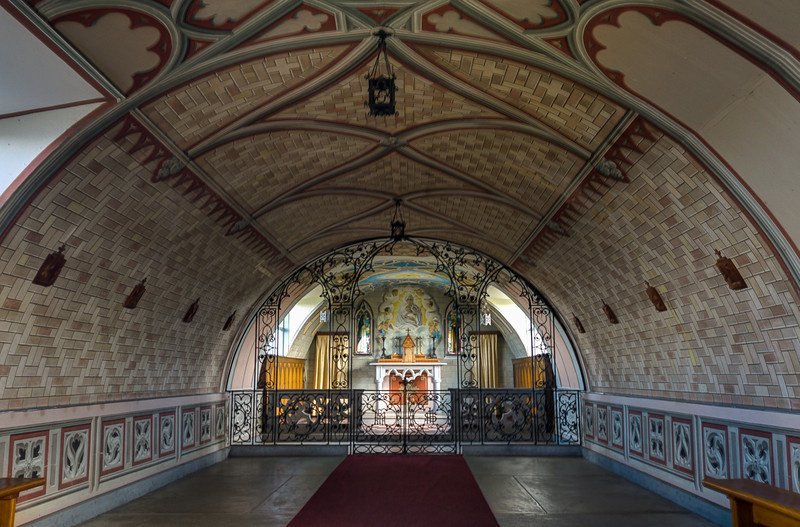 The Italian Chapel,  the painted interior.