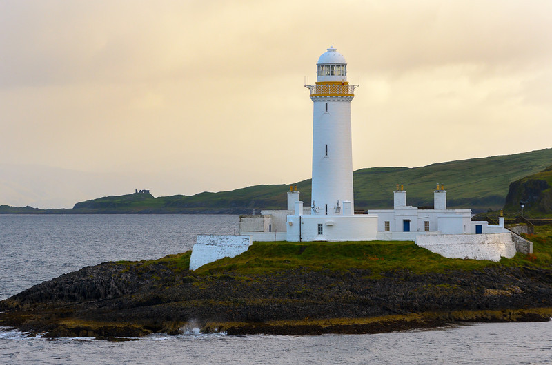 Lighthouse from the ferry to Isle of Skye