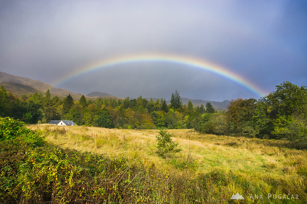 Rainbow, on the way to Glencoe