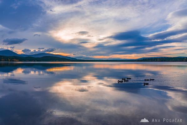 Sunset at Loch Morlich, Cairngorms