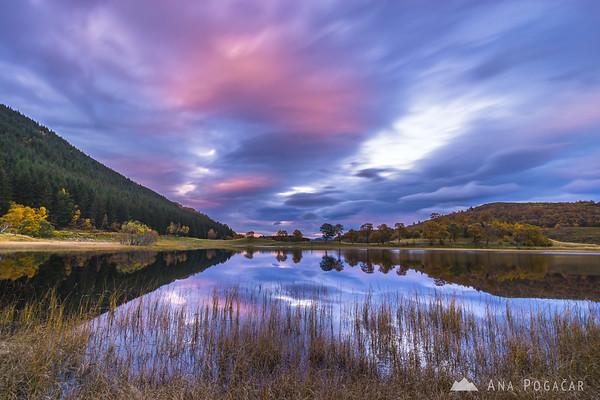 Fuaran na Fenne Lake after sunset
