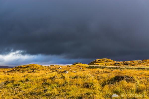 Dark skies over Rannoch Moor, Glencoe