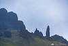 Dark and rainy morning at the Old Man of Storr, Isle of Skye