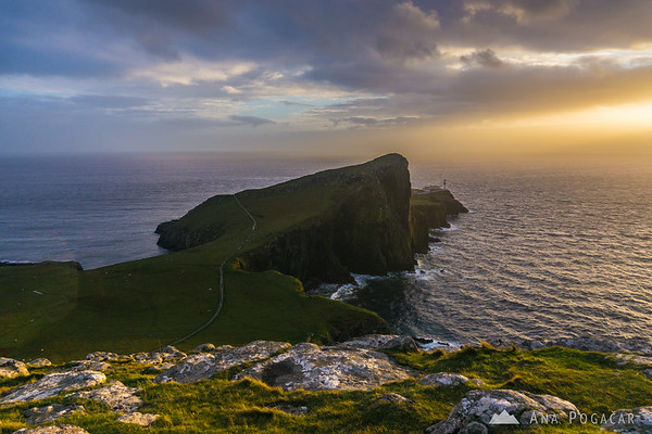 Sunset at Neist Point, Isle of Skye
