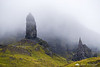 Moody Old Man of Storr, Isle of Skye