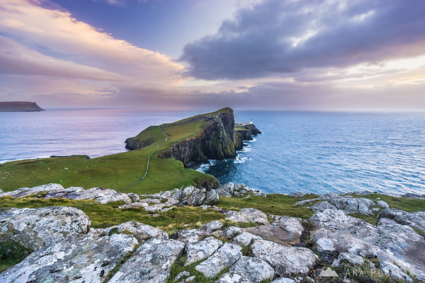 After sunset at Neist Point, Isle of Skye