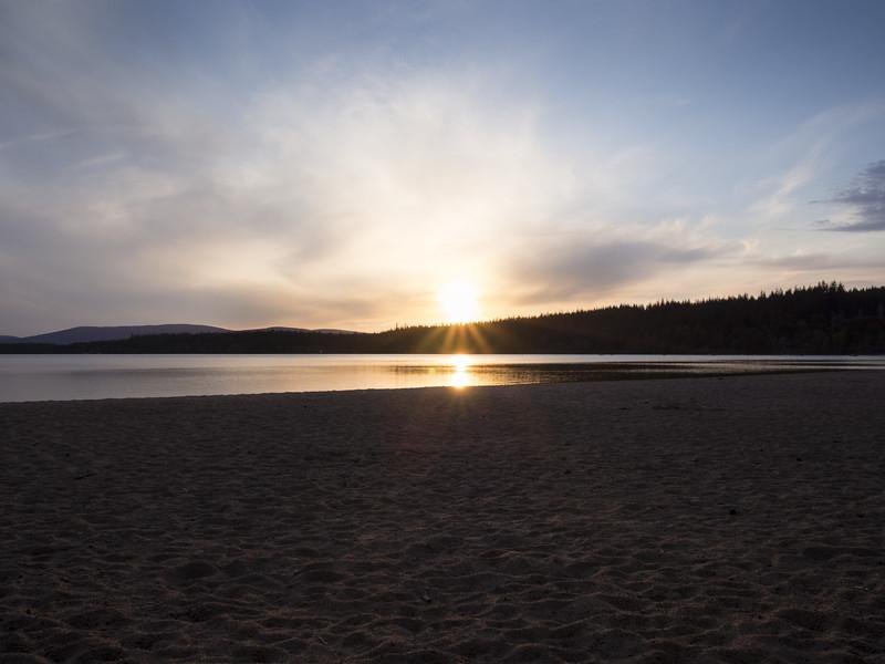 Loch Morlich sunset.