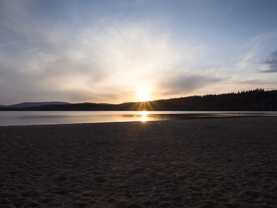 Loch Morlich sunset.