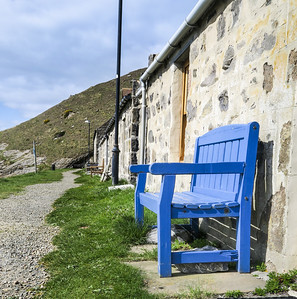 Blue Bench at Crovie.
