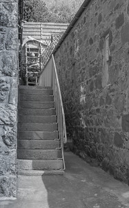 Up the steps at Crovie.