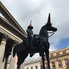 Wellington wearing a traffic cone. It's a Glasgow thing.