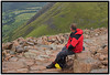 A short rest on the wet rocks of Ben Nevis.<br /> Oh, and incase you are wondering, that is NOT a bald spot! Ok? :-P