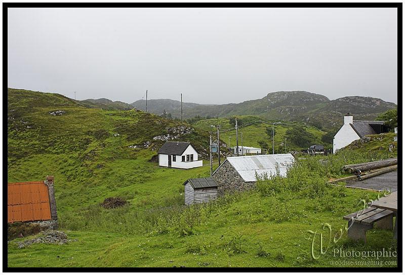 The wild Highland coast.
