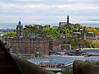 Calton Hill is another landmark of Edinburgh. This is a view of Calton Hill from the Castle, over the Train Station and North Bridge. On the left is Balmoral Hotel, with  its clock tower.
