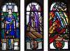 The three stained-glass windows of the chapel were added in1922. They show St. Margaret, St. Andrew, and William Wallace.