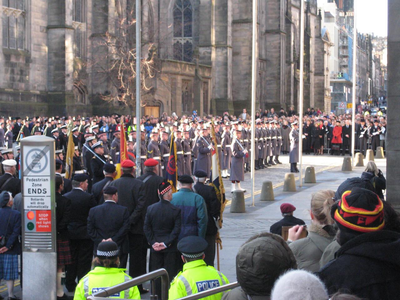 Remembrance ceremony in Edinburgh square November 9th.