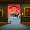 Inside the National Gallery of Scotland in Edinburgh.  It houses the extensive national collections of European and Scottish art including masterpieces by Raphael, Gauguin, Van Gogh, Ramsay and Raeburn.