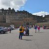 The approach to Edinburgh Castle.<br /> May 26, 2015