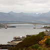 The Skye Bridge  over Loch Alsh, opened in 1995,  links  mainland Scotland at Kyle Lochalsh with the Isle of Skye.