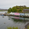 Portree Harbor on the Isle of Skye.  Our B&B was The Pink House - guess which it is!  <br />  May 31, 2015 at 7:48 P.M. - low tide.