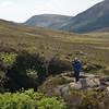 Mrs. T. recording memories in the Black Cuillin Hills, Isle of Skye. 30 May, 2015.