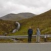 Ken and Beth stop on Skye along route A87  to enjoy viewing the Eas a' Bhradain  waterfall. It is located between Marsco and Loch Ainort on the Allt Coire nam Bruadaran of the island of Skye