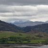 Scottish Highlands visible behind  Loch Kishorn seen from the Applecross Peninsula.