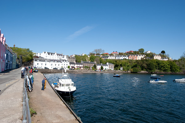 Portree Harbour:  Portree is the captial of the Isle of Skye.