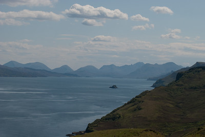 View off the cliffs on the Isle of Skye.