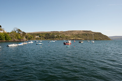 Looking out onto Portree Harbour.