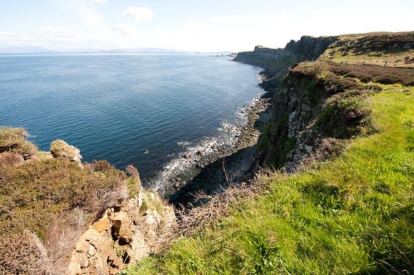 Looking away from Kilt Rock, down the coastline of the Isle of Skye.