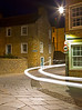 Ghost light in Stromness. (This is what happens when you have a long exposure and a car is coming by.)