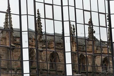 Church on glass windows - Glasgow - Scotland - Sunday 21st January 2013 - circa 10.00hrs GMT